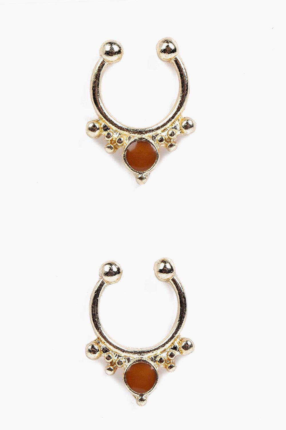 Bella Stone Septum Ring Pack