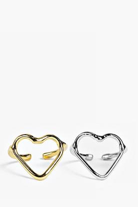 Maya Heart Shaped Ring Pack