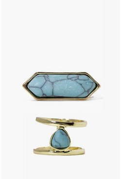 Hannah Marble Stone Ring Pack