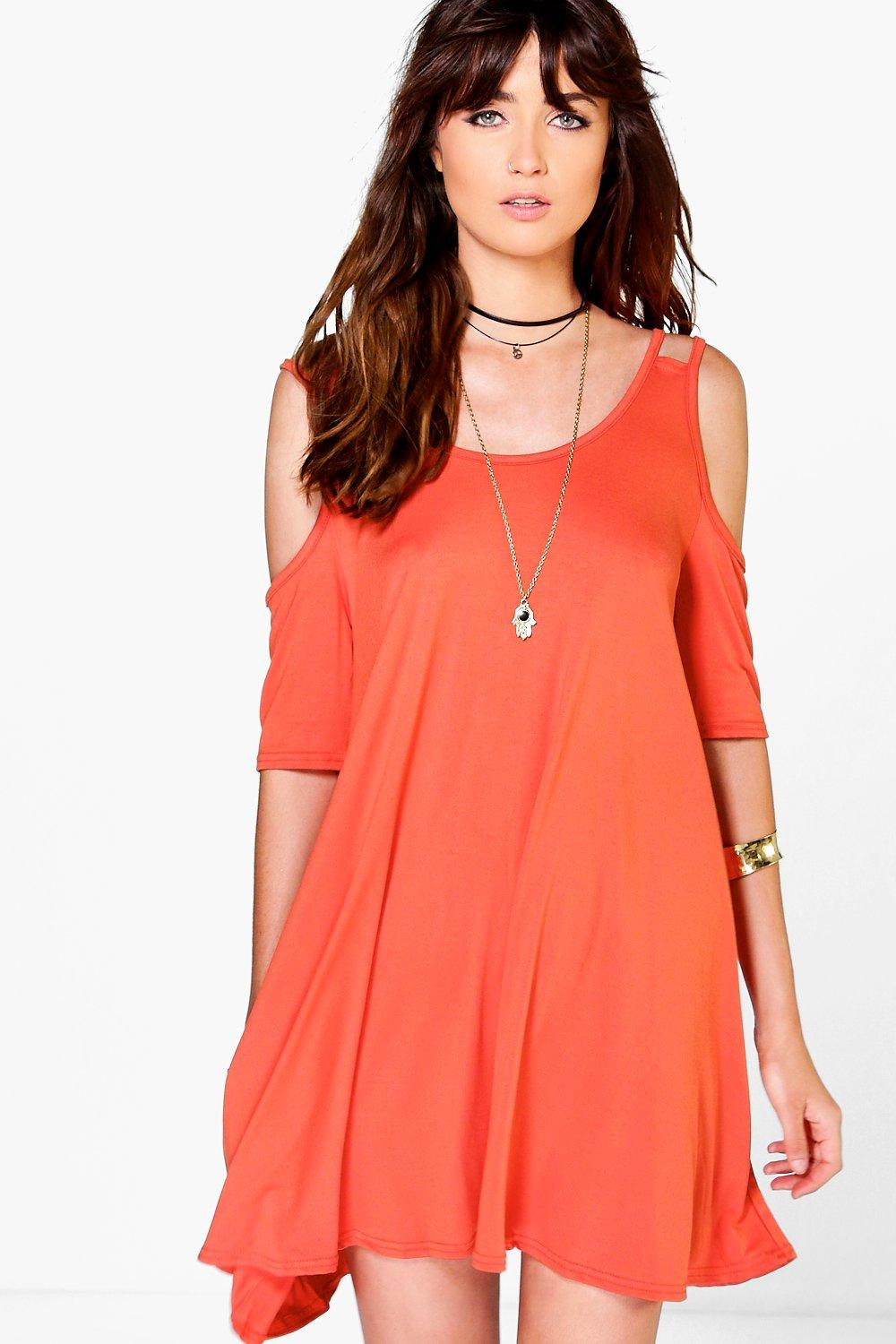 Lola Cold Shoulder Swing Dress