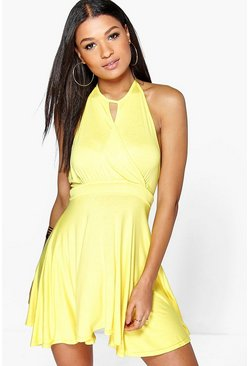 Sasha Halterneck Skater Dress