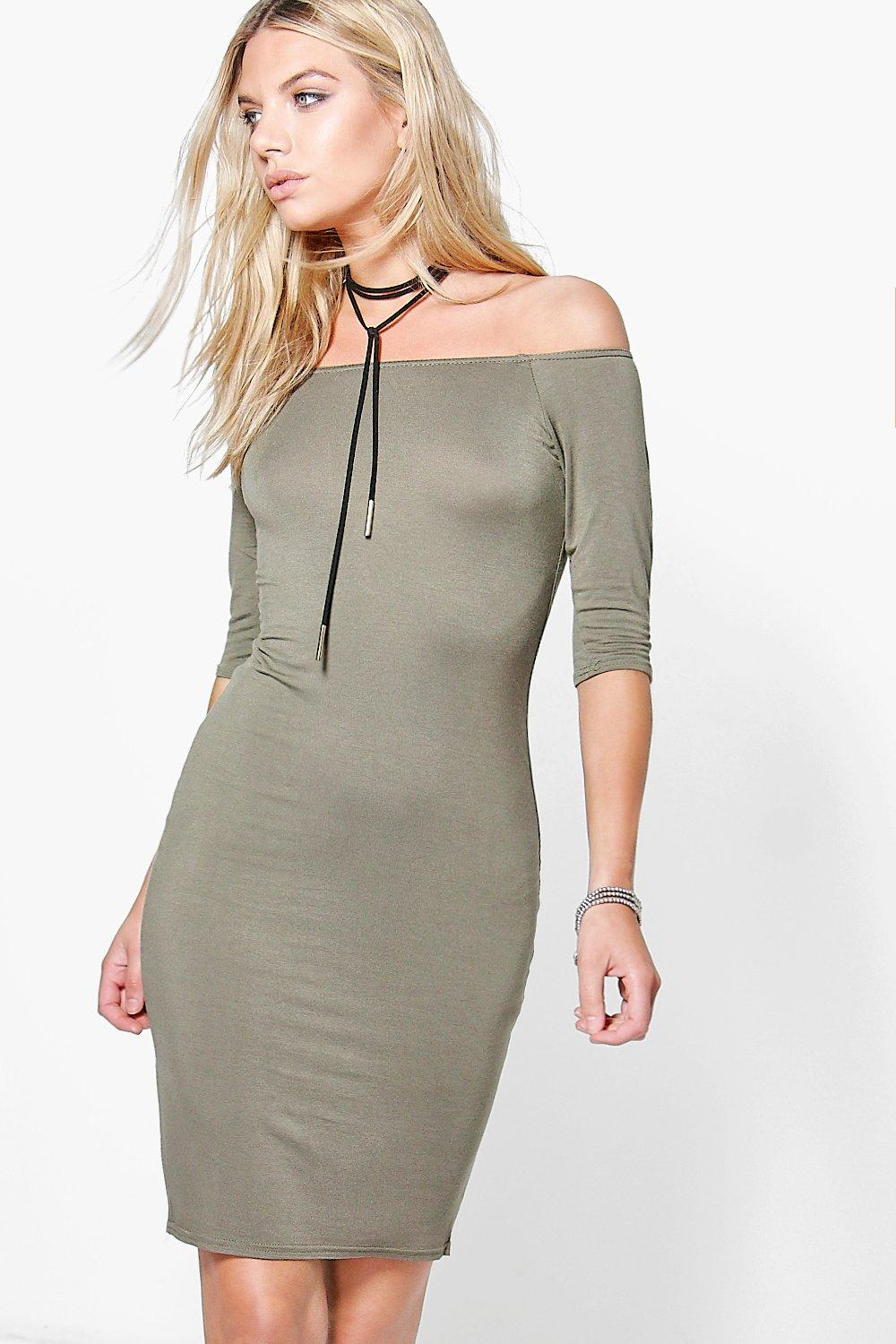 Sonia Summer 3/4 Sleeve Bodycon Dress