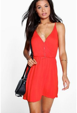 Isla Wrap Front Strappy Sundress