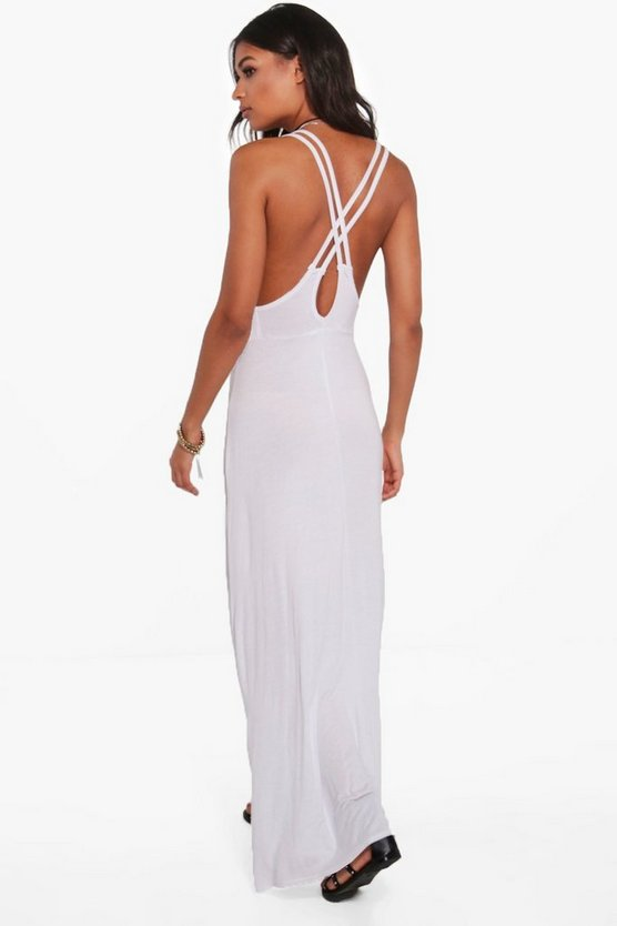 Kira Double Strap Cross Back Maxi Dress