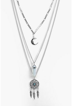 Lara Dreamcatcher Layered Necklace