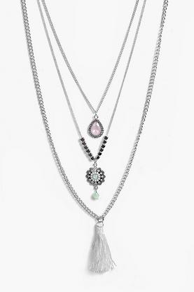 Lottie Skinny Tassel Necklace Pack