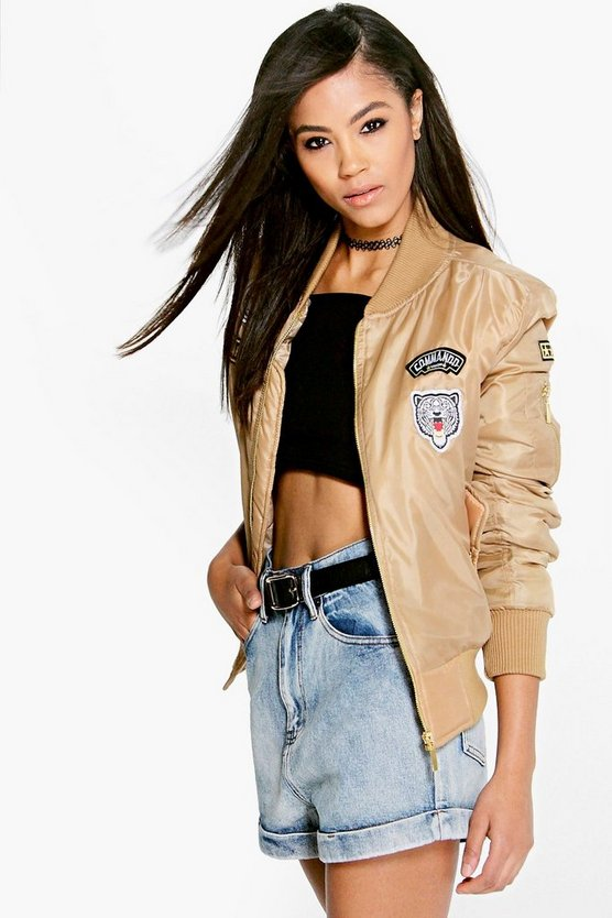 Saskia MA1 Bomber With Badges