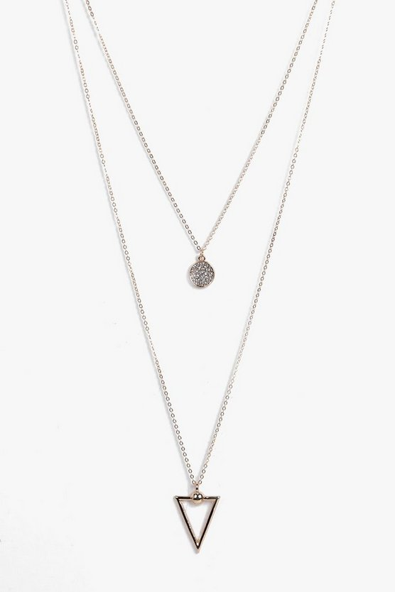 Alice Arrow And Coin Layered Necklace