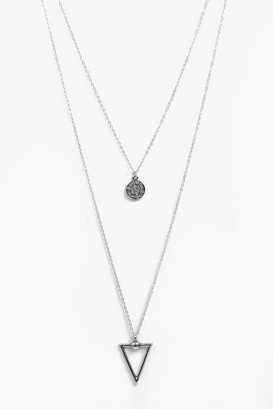Arrow And Coin Layered Necklace