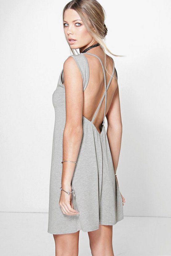 Romy Cross Back Sleeveless T-Shirt Dress