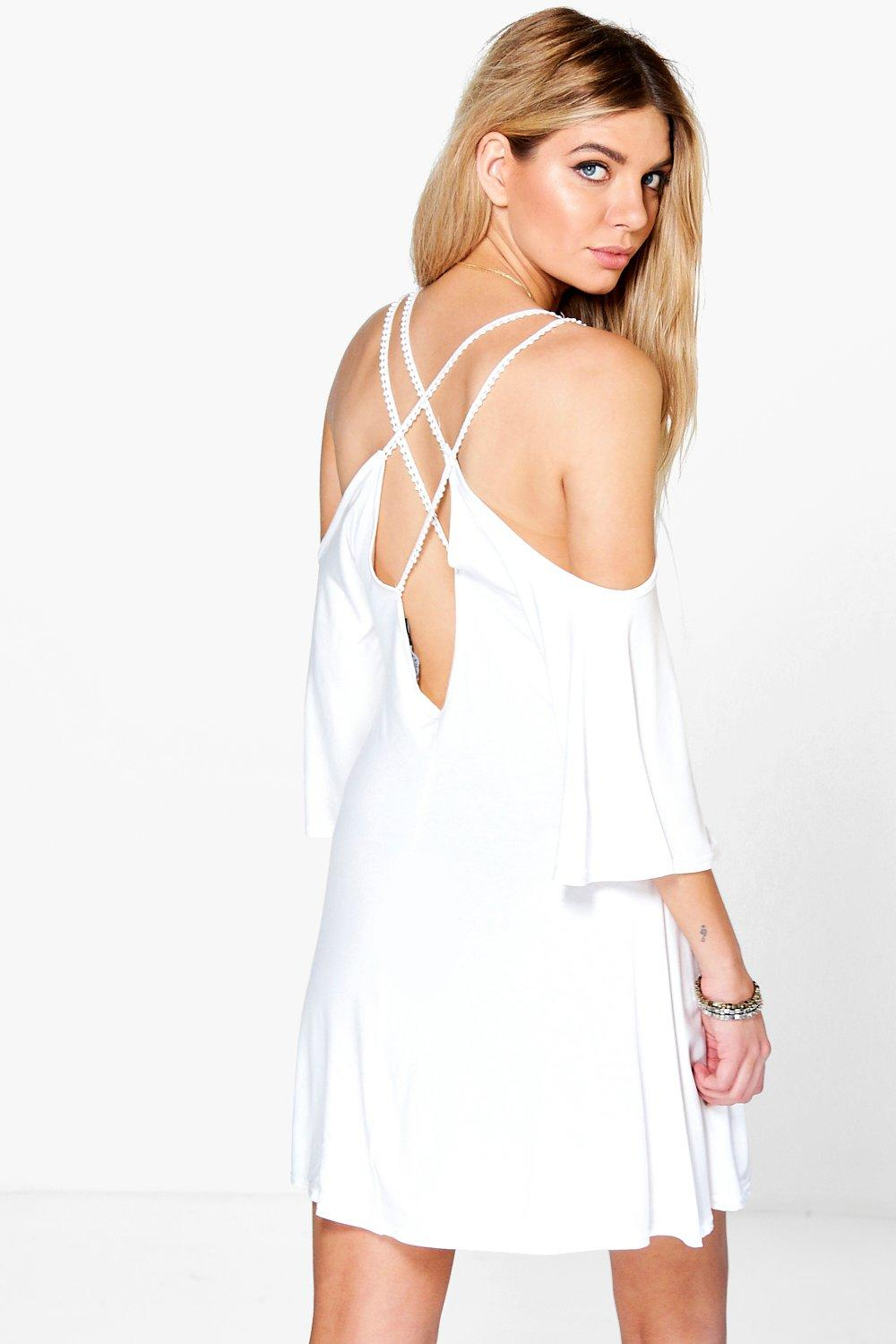 Abbey Cross Back Swing Dress