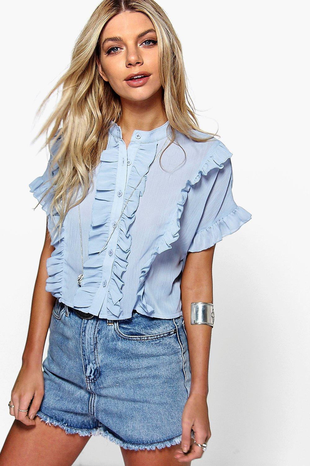 Grace Ruffle Short Sleeved Shirt