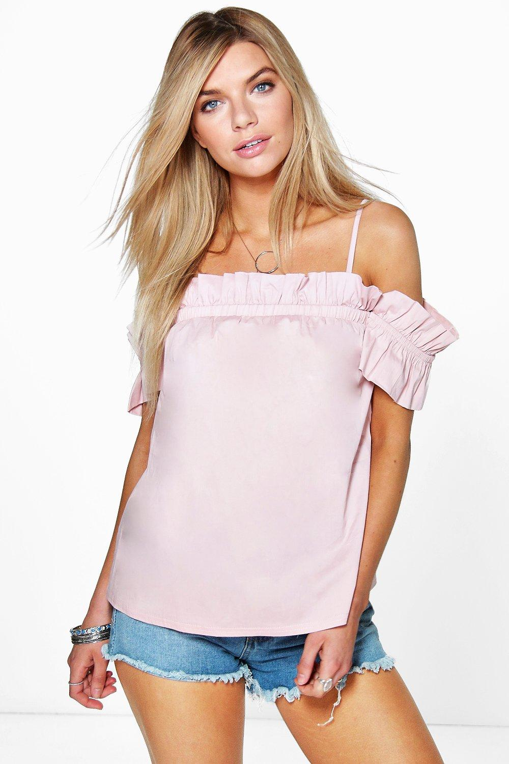 Layla Ruched Strappy Off The Shoulder Top