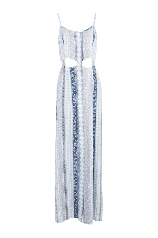 Paisley cut out maxi dress