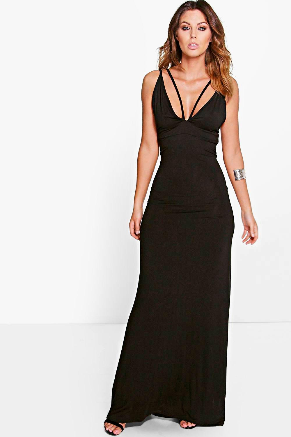 Rosie Double Strap Plunge Maxi Dress