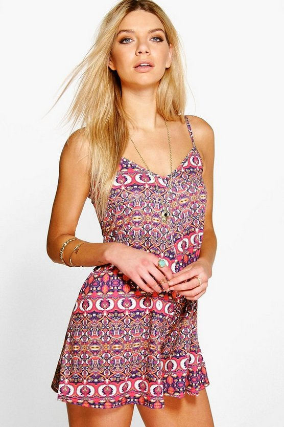 Rebecca Printed Swing Playsuit