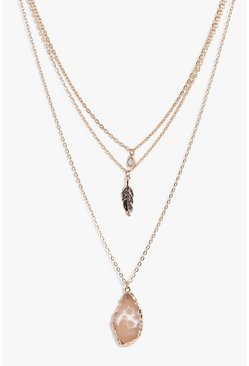 Isobel Crystal Pendant Layered Necklace