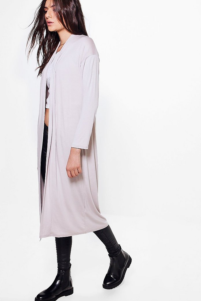 Lucy Lightweight Shawl Collar Longline Duster