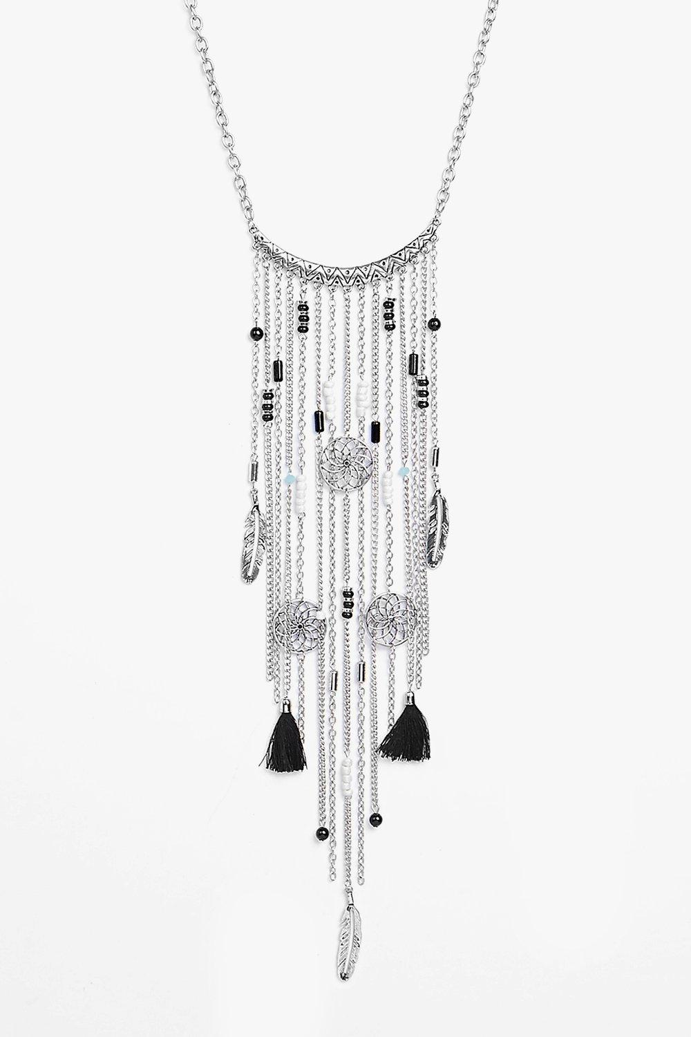 Tia Dreamcatcher Tassel Statement Necklace
