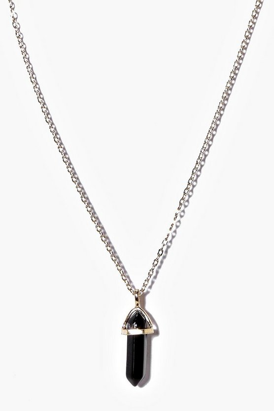 Eloise Crystal Pendant Skinny Necklace Pack