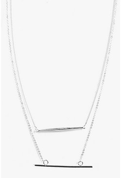Angel Fine Bar Skinny Necklace Pack