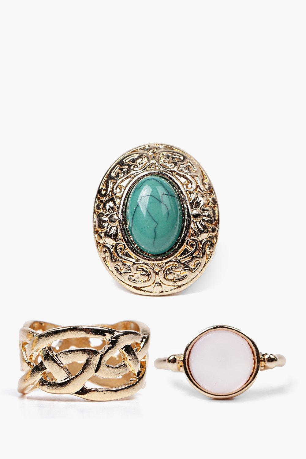 Sofia Multi Stone Ring Pack