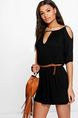 Diana Off The Shoulder Flippy Short Playsuit