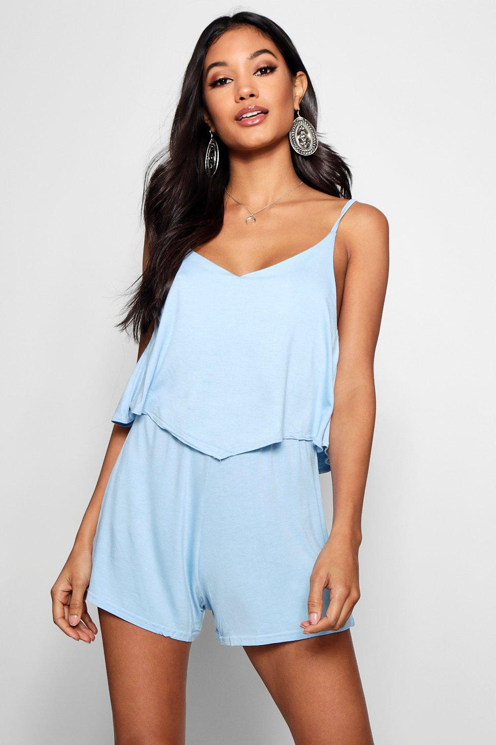 Dinah Strappy Cami Overlay Playsuit