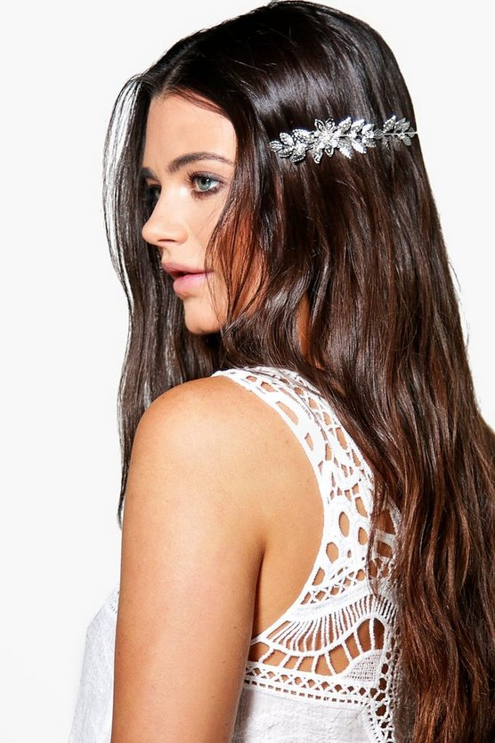 Eliza Floral Side Headband Crown