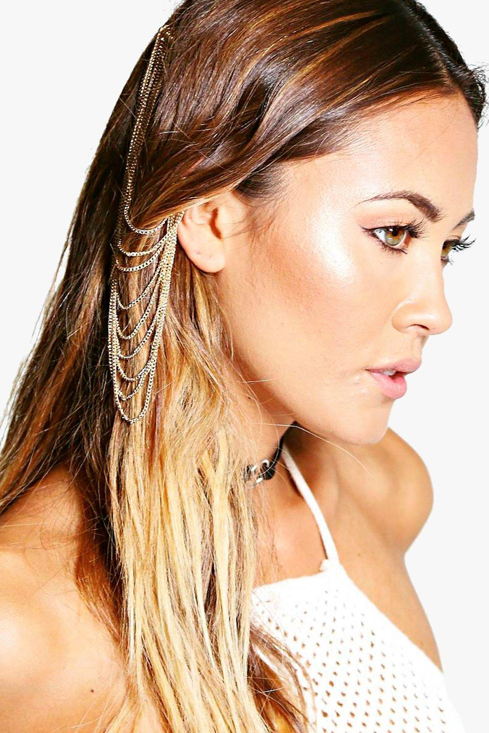 Anna Multi Chain Hair Pin and Ear Cuff