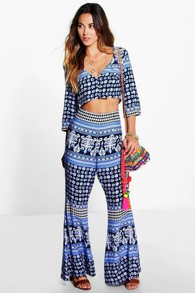 Vivica Tile Top & Flares Co-Ord Set