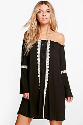 Arianna Tribal Ethnic Swing Dress