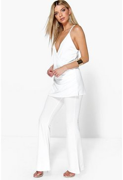 Sara Draped Top & Flared Trouser Co-Ord Set