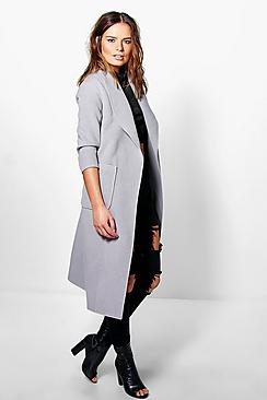 Bethany Shawl Collar Robe Duster Coat