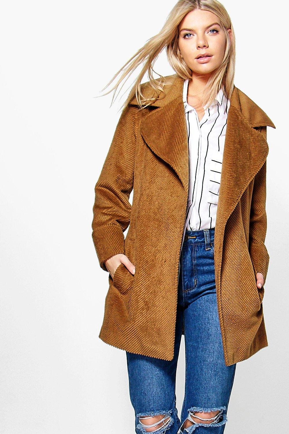 Hollie Rib Wool Belted Robe Coat