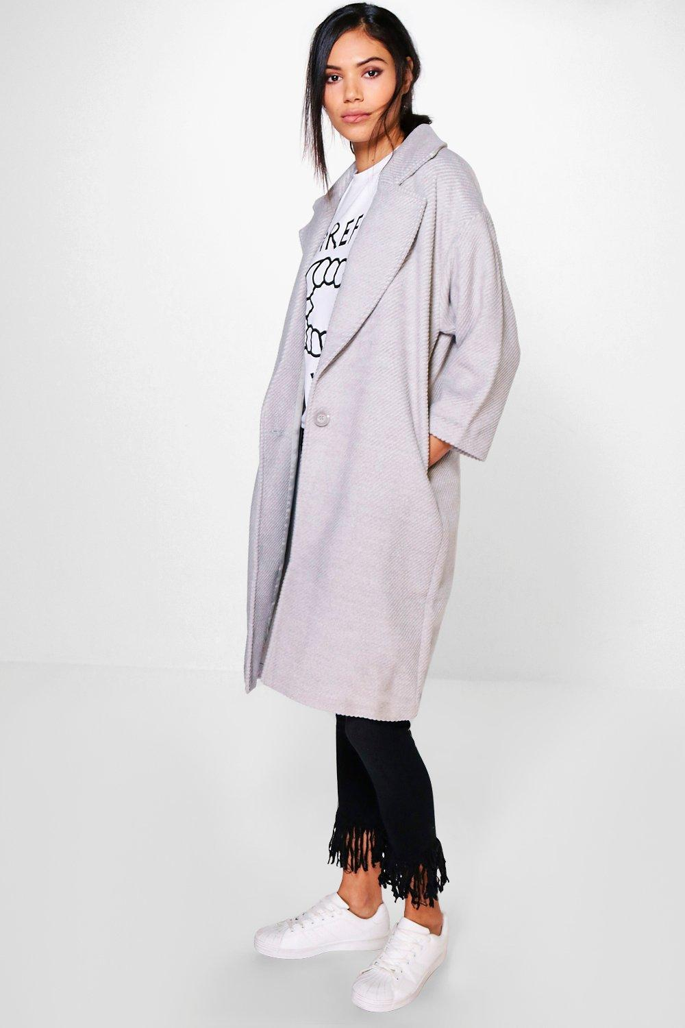 Julia Rib Wool Oversized Coat