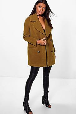 Georgia Oversized Collar Double Breasted Coat