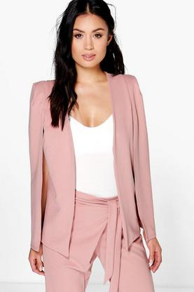 Alexis Tailored Crepe Cape