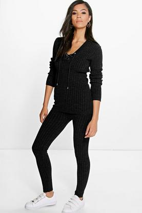 Esther Rib Knitted Loungewear Set