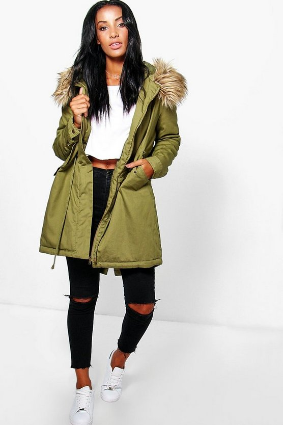 Evie Parka With Luxe Faux Fur Hood