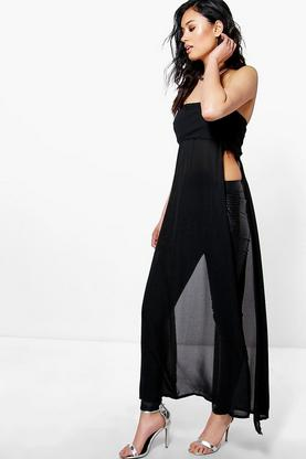 Kellie Split Side Maxi Strapless Tunic