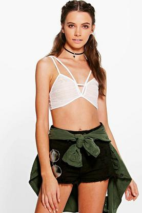 Faith Lace Panel Strappy Bralet
