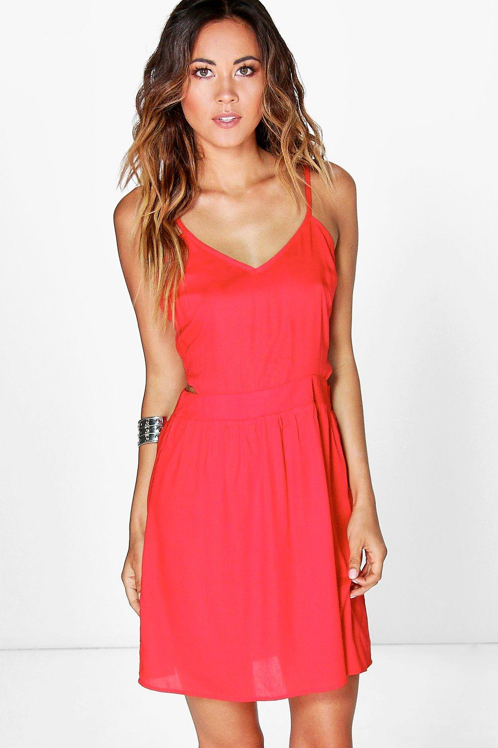 Aisha Cut Out Side Strappy Sundress