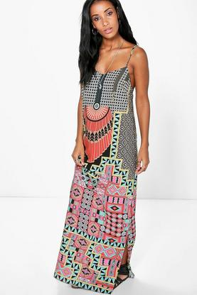 Vaishnavi Placement Geo Maxi Dress