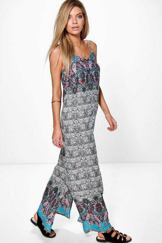 Saumya Sketchy Mono Paisley Maxi Dress