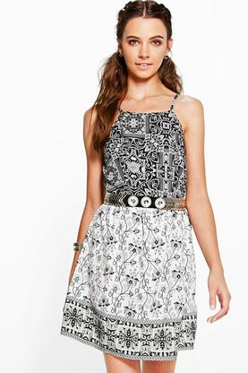Lakshmi Mix Print Sun Dress