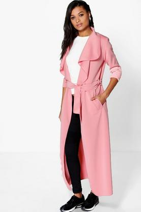 Katie Maxi Belted Waterfall Duster