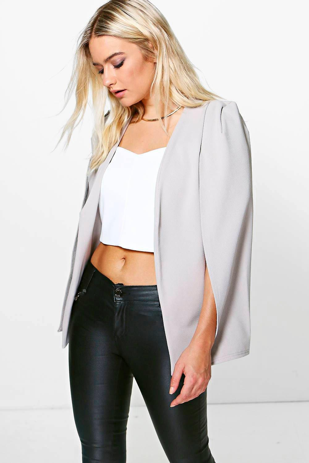 Maria Tailored Crepe Cape