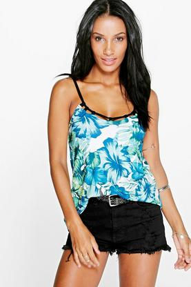 Shannon Cage Neck Tropical Cami