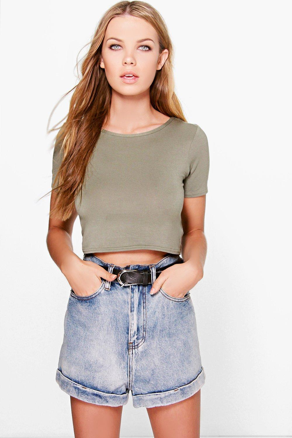Paula Low Scoop Back Crop Top